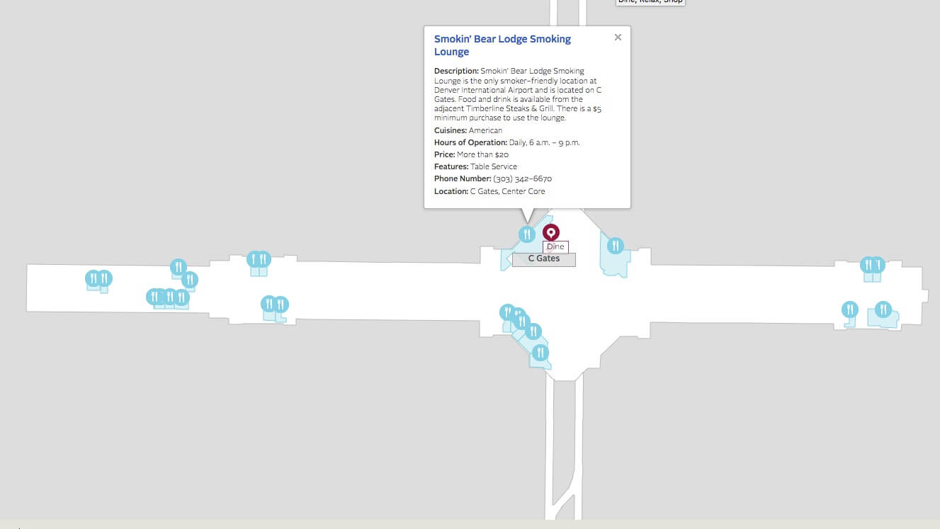 Denver International Airport (DEN) | Airport Smoking on denver airport terminal c map, atlanta airport terminal map, houston airport terminal c map, official seatac airport terminal map, los angeles airport terminal map, dtw terminal map, detroit mi airport terminal map, portland airport terminal map, houston bush airport terminal map, denver airport map frontier, printable denver airport terminal map, dfw terminal map, chicago airport terminal map, chicago midway terminal map, denver airport terminal map airlines, sfo terminal map, denver airport gate map, spokane airport map, denver airport terminal b map, dia terminal map,